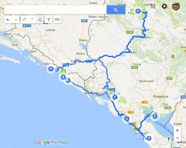 Balkanin Road Trip Sveti Stefan Budva Skadar Kotor Tama Matka