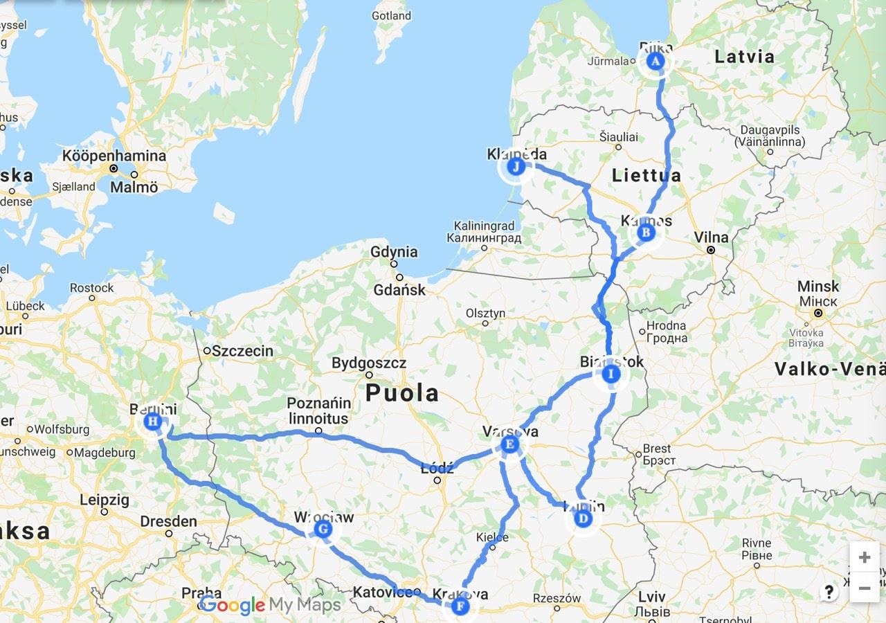 Via Baltica 2018 Omalla Autolla Baltiaan Ja Puolaan 6000km